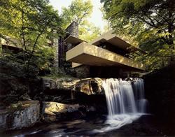 Fallingwater designed by Frank Lloyd Wright