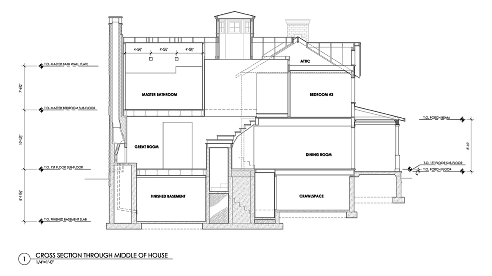 cupola plan cupola section porch section eave detail wall section ...