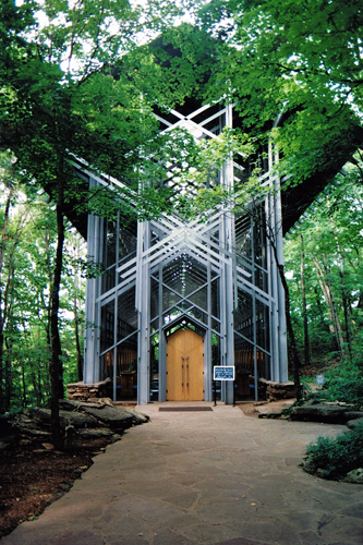 Thorncrown Chapel Exterior View