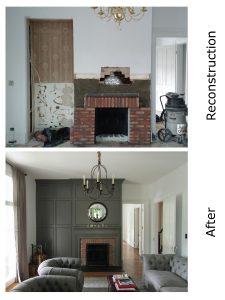 Langdon Gatehouse Fireplace Reconstruction